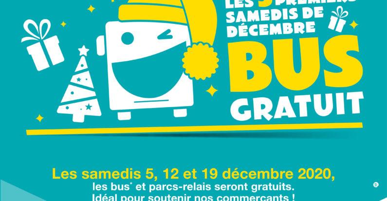 Bus gratuit les 3 premiers samedis de décembre
