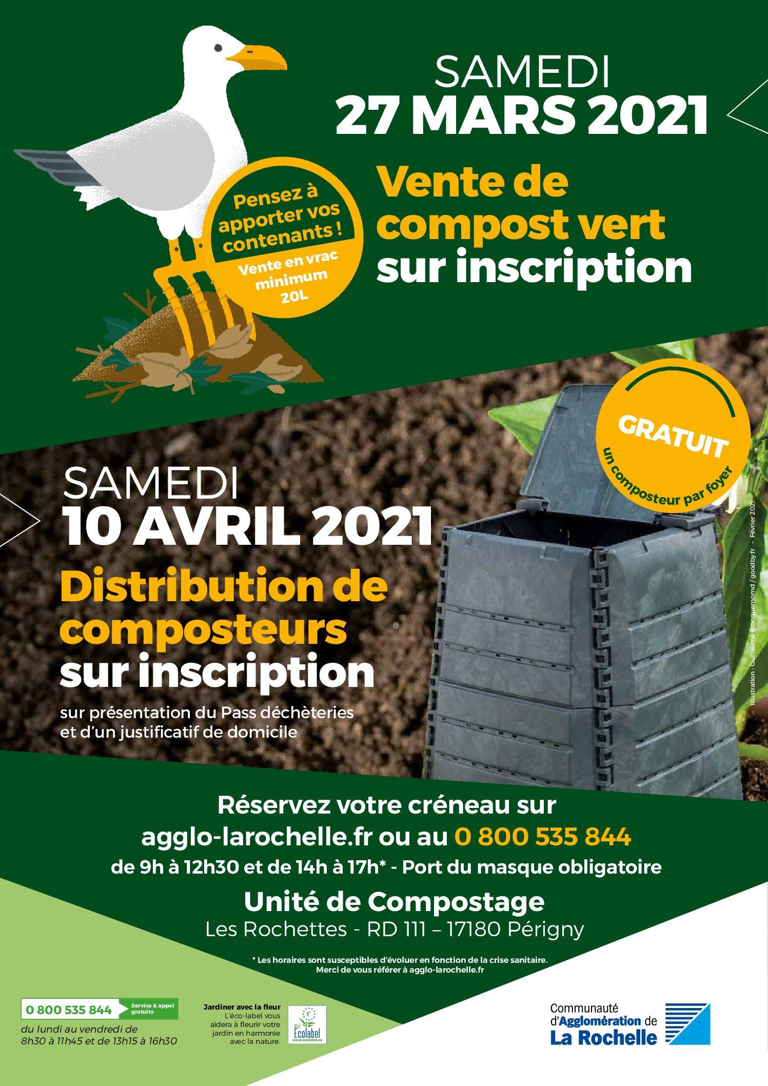 Distribution de compost vert le 27 mars 2021